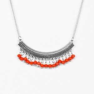 Fringe Fever - Red Necklace Set